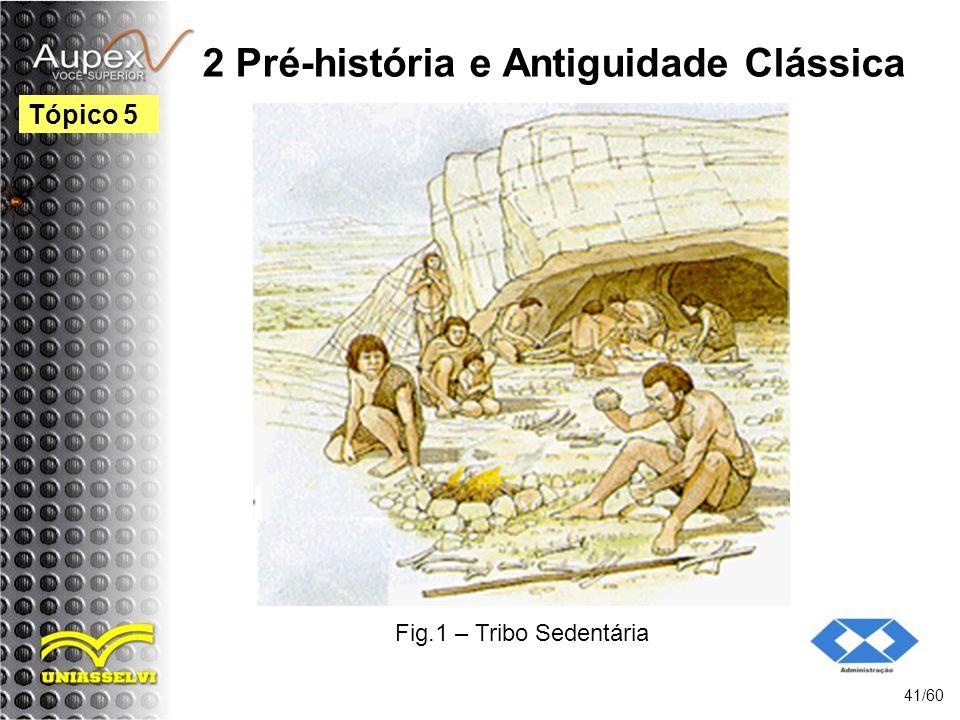 2 Pré-história e Antiguidade Clássica 41/60 Tópico 5 Fig.1 – Tribo Sedentária