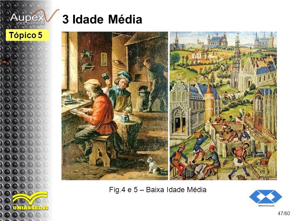 3 Idade Média 47/60 Tópico 5 Fig.4 e 5 – Baixa Idade Média