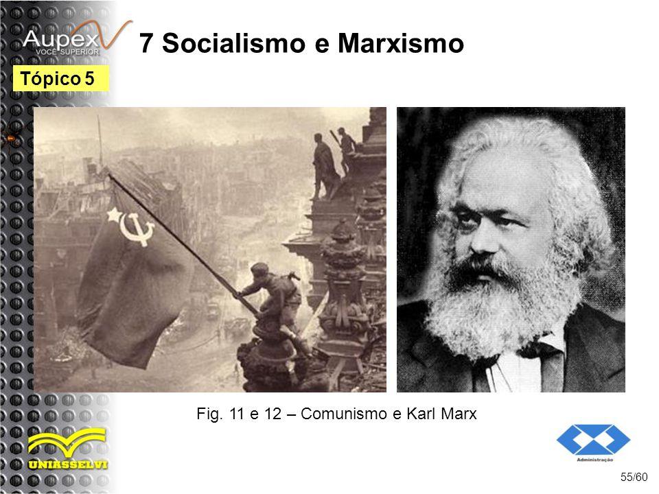 7 Socialismo e Marxismo 55/60 Tópico 5 Fig. 11 e 12 – Comunismo e Karl Marx