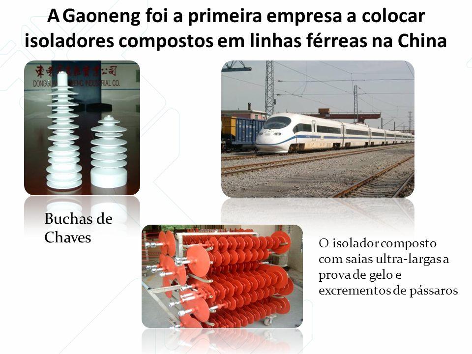 A Gaoneng foi a primeira empresa a colocar isoladores compostos em linhas férreas na China Buchas de Chaves O isolador composto com saias ultra-largas