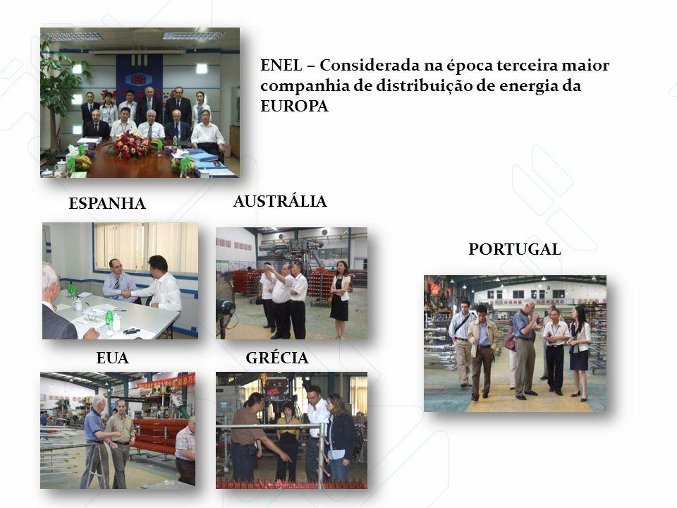 ESPANHA AUSTRÁLIA EUA ENEL – Considerada na época terceira maior companhia de distribuição de energia da EUROPA GRÉCIA PORTUGAL