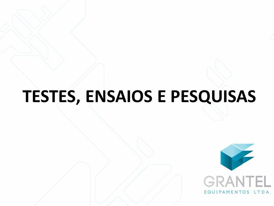 TESTES, ENSAIOS E PESQUISAS