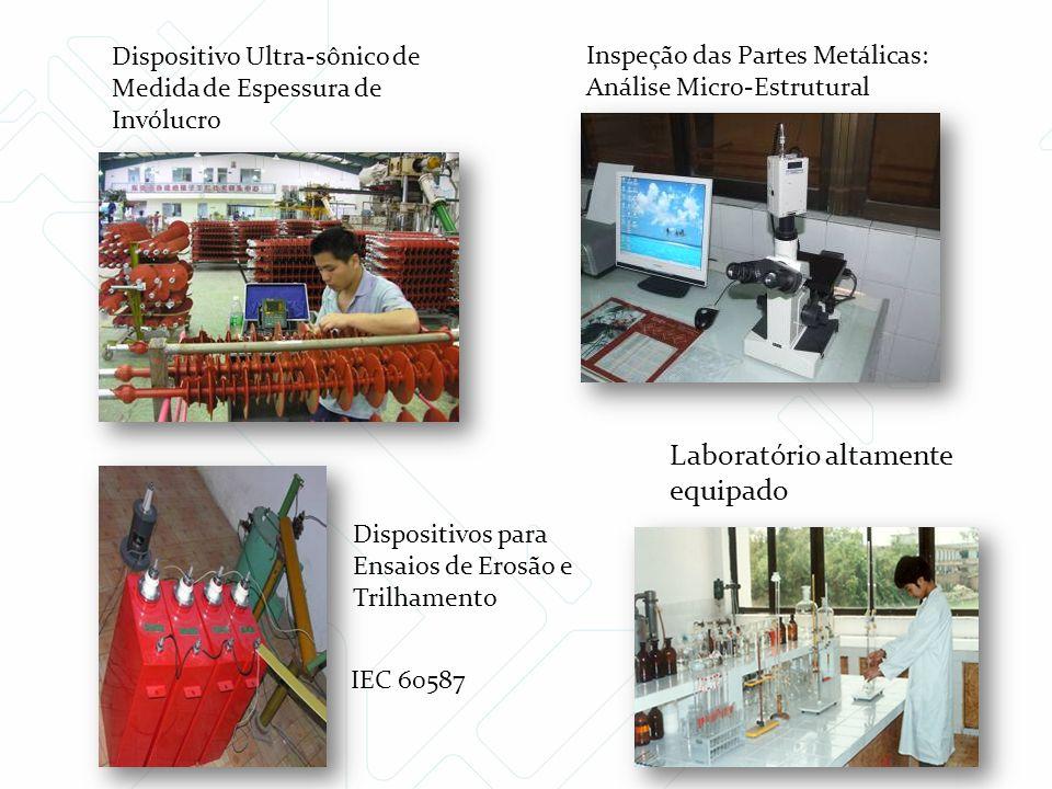 Dispositivos para Ensaios de Erosão e Trilhamento Inspeção das Partes Metálicas: Análise Micro-Estrutural Dispositivo Ultra-sônico de Medida de Espess