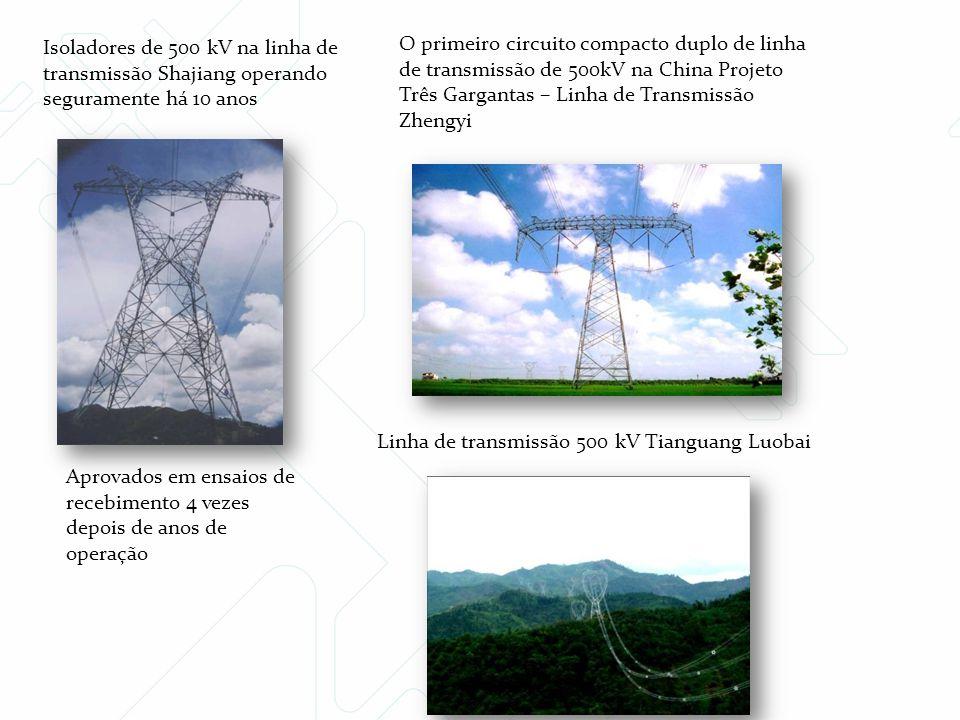 Isoladores de 500 kV na linha de transmissão Shajiang operando seguramente há 10 anos Aprovados em ensaios de recebimento 4 vezes depois de anos de op