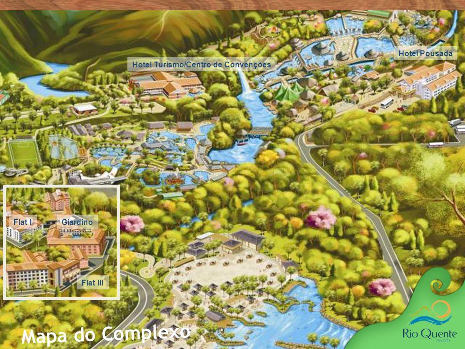 imensa área verde, Em uma repleta de bosques, jardins Parque Fontes das e muita vegetação nativa, surge o Fontes Parque das