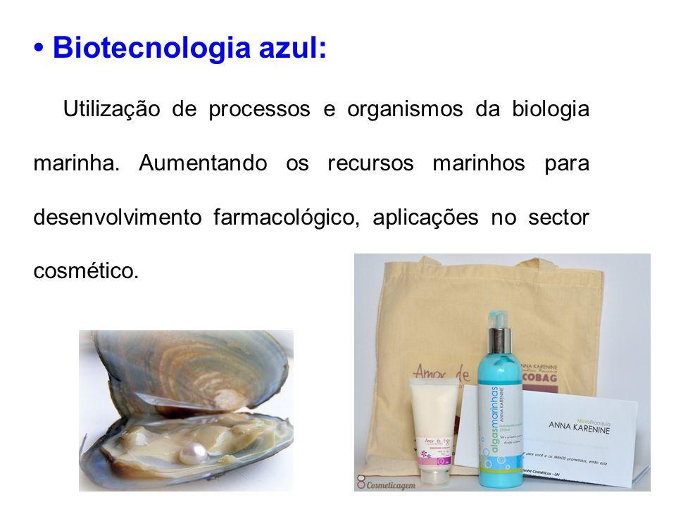 Biotecnologia azul: Utilização de processos e organismos da biologia marinha. Aumentando os recursos marinhos para desenvolvimento farmacológico, apli