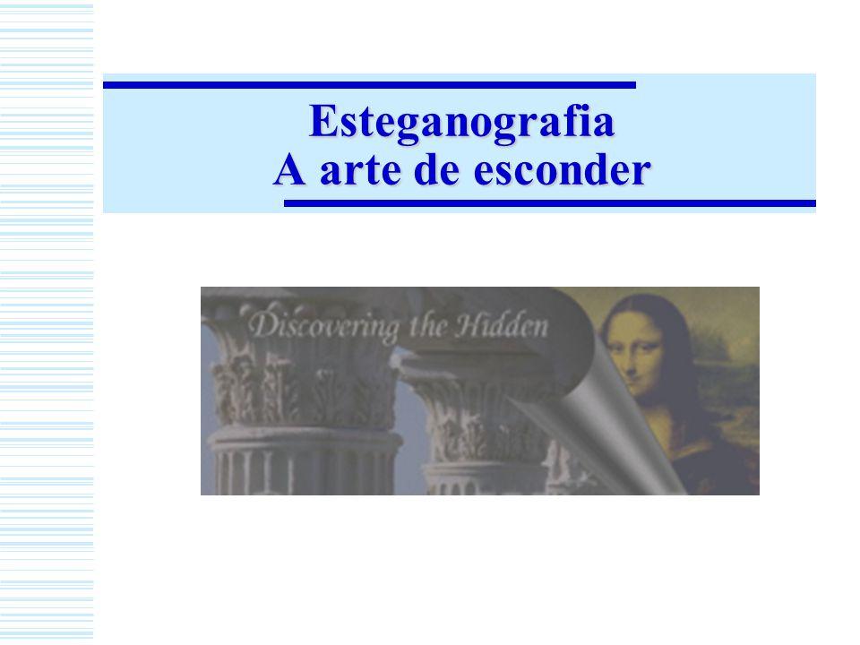 Esteganografia em imagens Como funciona esse canal esteganográfico.