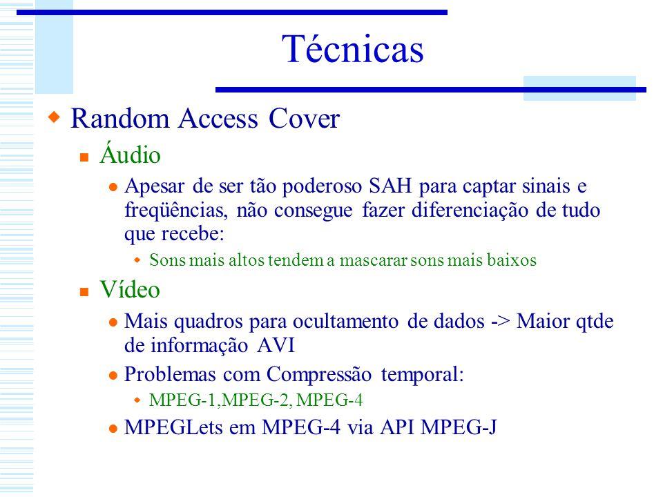 Técnicas Random Access Cover Áudio Apesar de ser tão poderoso SAH para captar sinais e freqüências, não consegue fazer diferenciação de tudo que receb