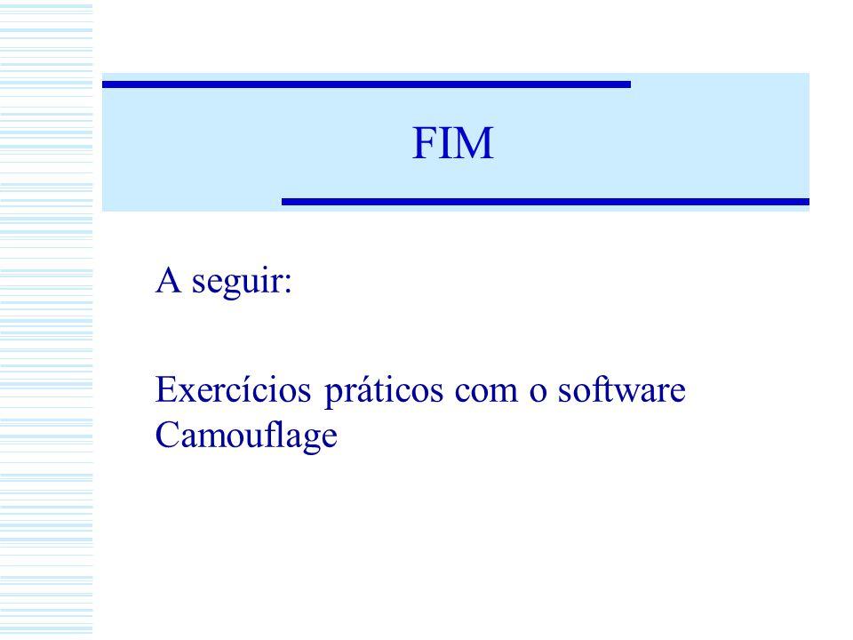 FIM A seguir: Exercícios práticos com o software Camouflage