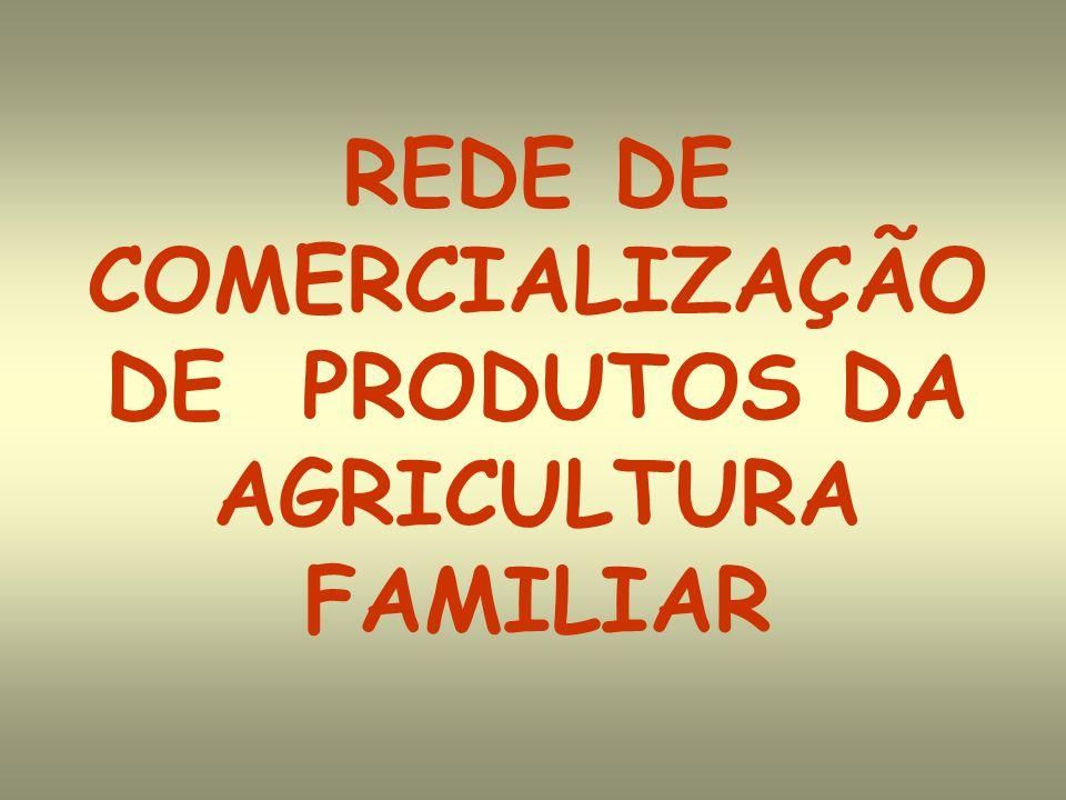 REDE DE COMERCIALIZAÇÃO DE PRODUTOS DA AGRICULTURA FAMILIAR