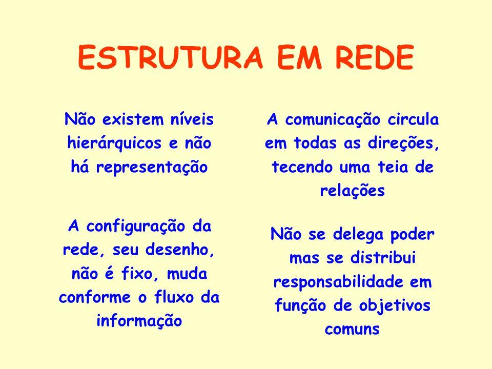 A SOCIEDADE CONTEMPORÂNEA TENDE A ORGANIZAR-SE EM REDES.