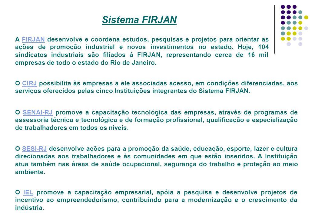 A FIRJAN desenvolve e coordena estudos, pesquisas e projetos para orientar as ações de promoção industrial e novos investimentos no estado. Hoje, 104