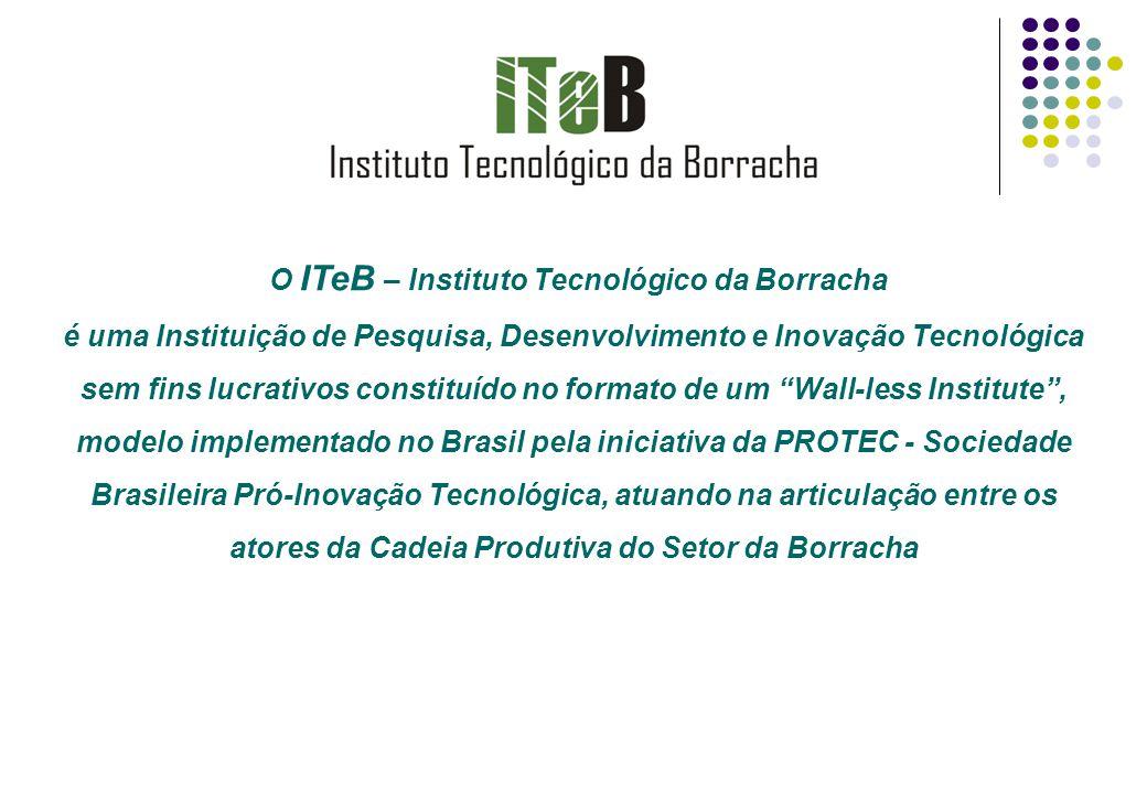 O ITeB – Instituto Tecnológico da Borracha é uma Instituição de Pesquisa, Desenvolvimento e Inovação Tecnológica sem fins lucrativos constituído no fo