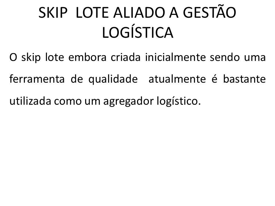 SKIP LOTE ALIADO A GESTÃO LOGÍSTICA O skip lote embora criada inicialmente sendo uma ferramenta de qualidade atualmente é bastante utilizada como um a