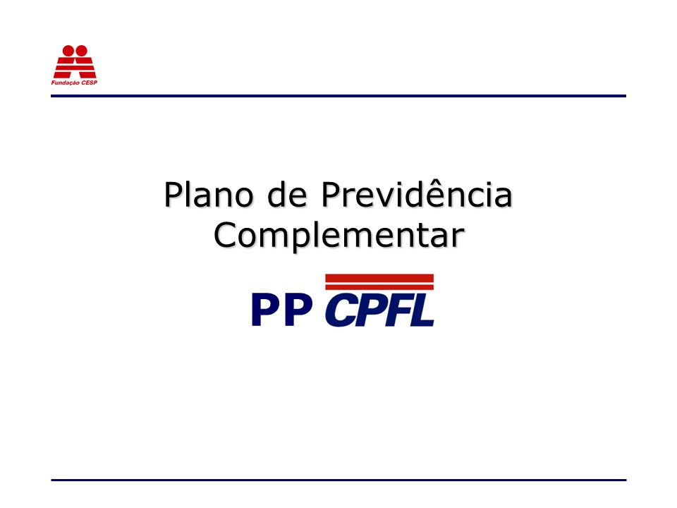 Plano de Previdência Complementar PP