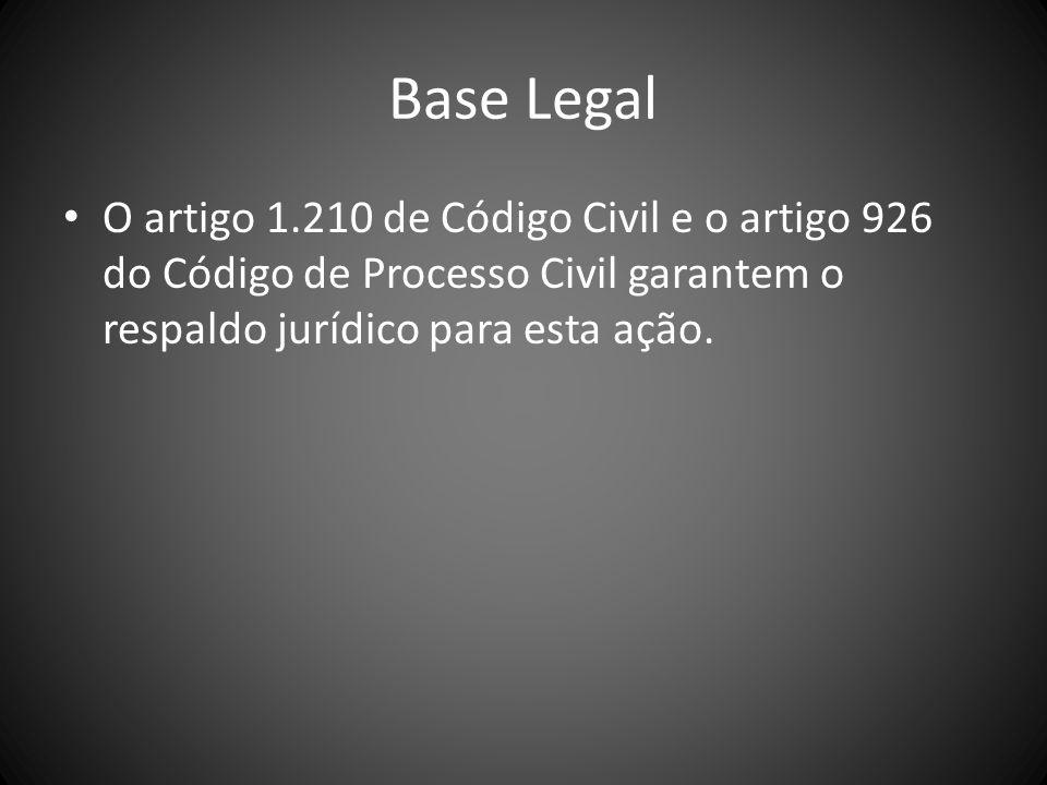 Procedimento Nos casos em que a posse ilícita ocorreu a menos de ano e dia, o art 920 do CPC prevê um procedimento especial, tendo o autor o direito de pedir liminarmente a reintegração da posse do bem.