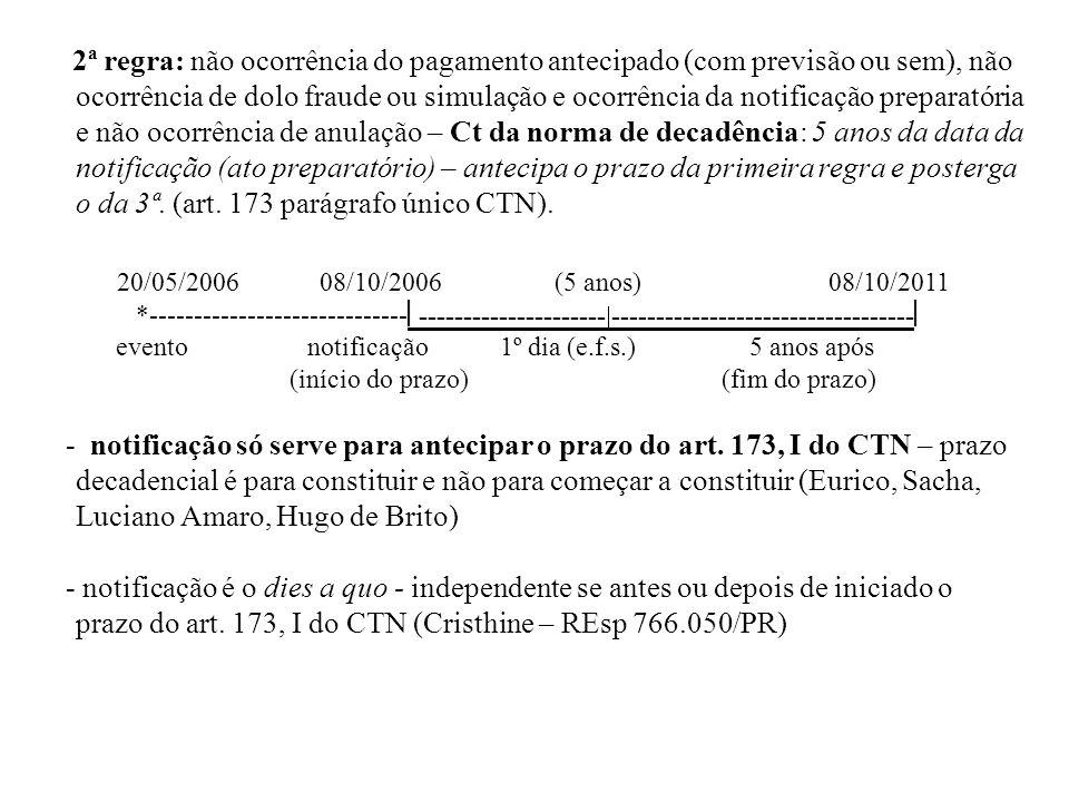 Tendo sido notificado de medida preparatória indispensável ao lançamento, flui termo inicial do prazo decadencial da aludida notificação (artigo 173, parágrafo único, do CTN), independentemente de ter sido a mesma realizada antes ou depois de iniciado o prazo do inciso I, do artigo 173, do CTN.