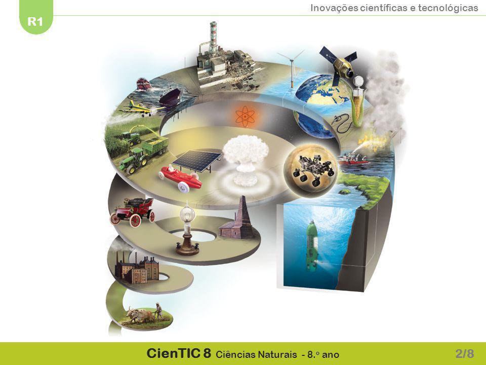 Inovações científicas e tecnológicas R1 CienTIC 8 Ciências Naturais - 8.