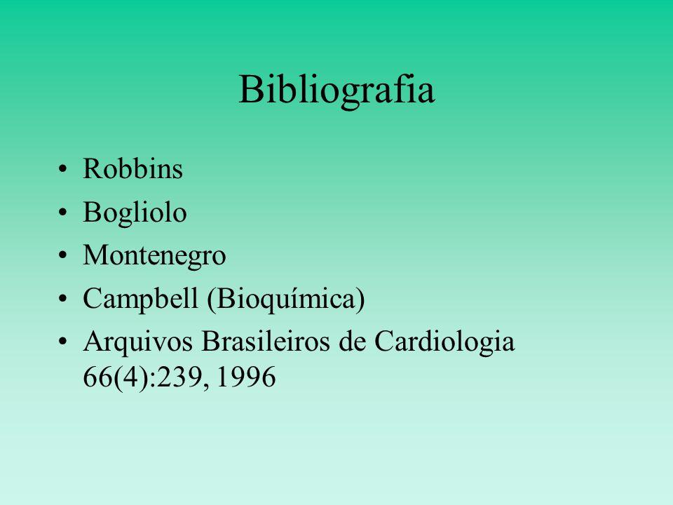 Bibliografia Robbins Bogliolo Montenegro Campbell (Bioquímica) Arquivos Brasileiros de Cardiologia 66(4):239, 1996
