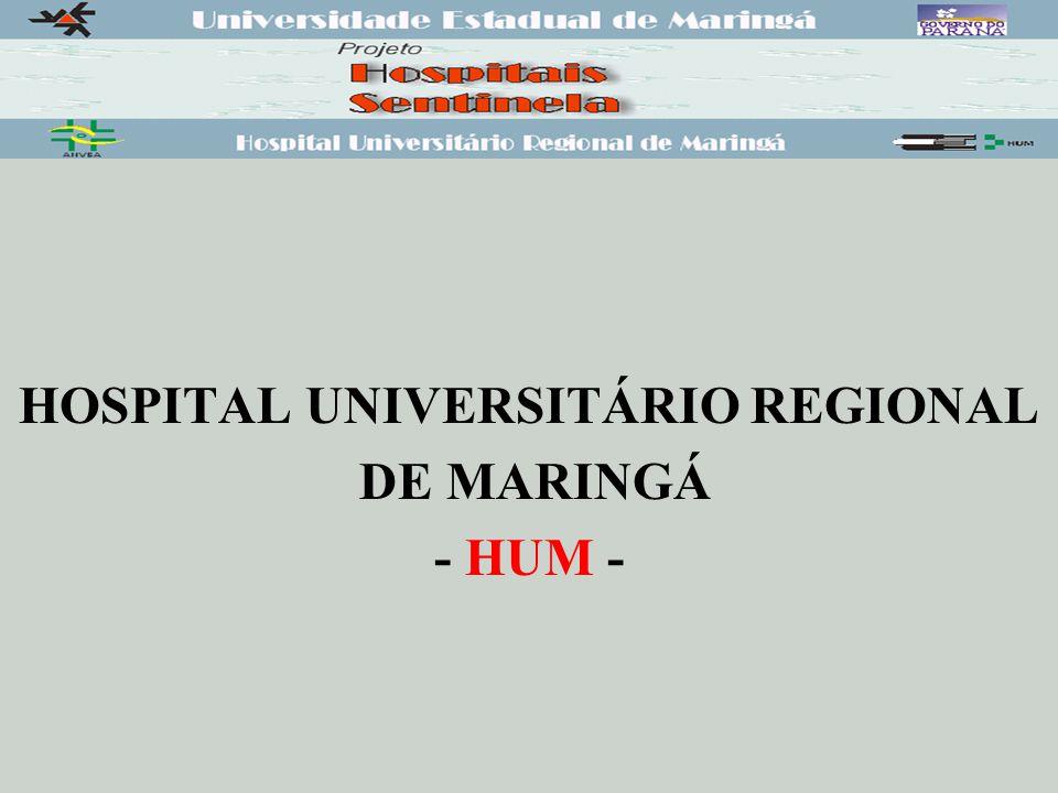 HOSPITAL UNIVERSITÁRIO REGIONAL DE MARINGÁ - HUM -