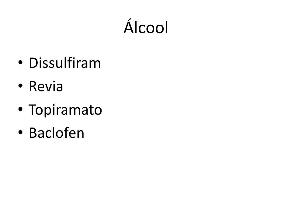 Álcool Dissulfiram Revia Topiramato Baclofen