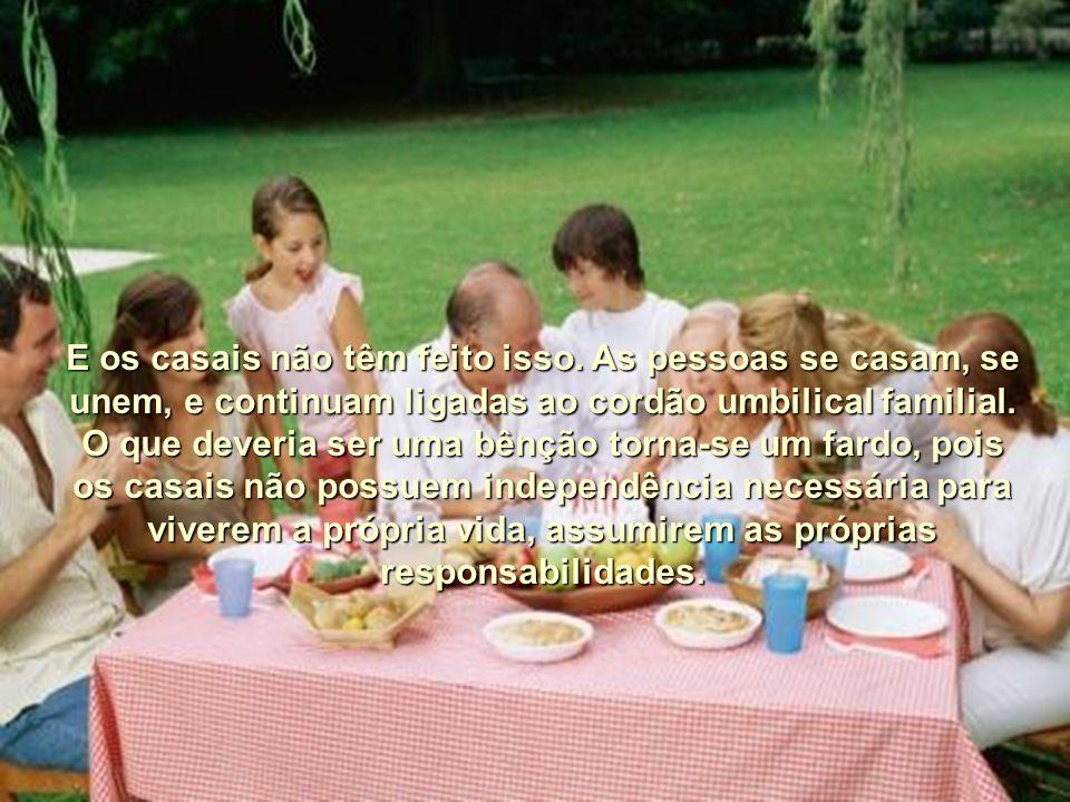 Mas, infelizmente, as pessoas se esqueceram dos verdadeiros princípios para se ter uma vida de família feliz.