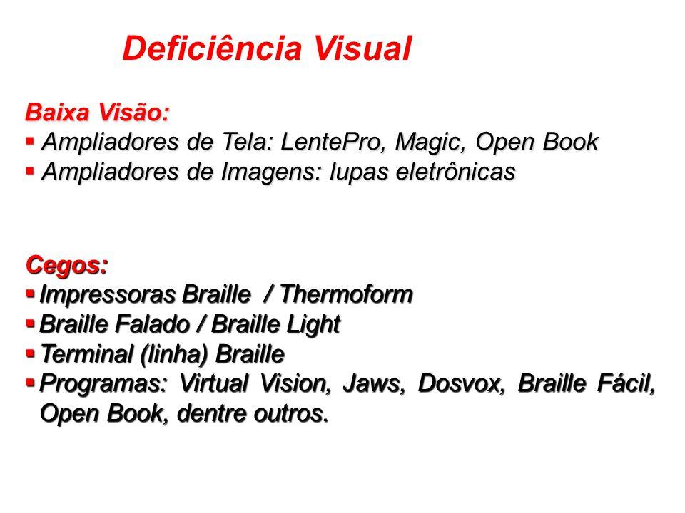 Baixa Visão: Ampliadores de Tela: LentePro, Magic, Open Book Ampliadores de Tela: LentePro, Magic, Open Book Ampliadores de Imagens: lupas eletrônicas