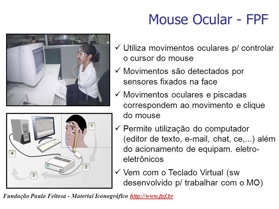 Mouse Ocular - FPF Fundação Paulo Feitosa - Material Iconográfico http://www.fpf.brhttp://www.fpf.br Utiliza movimentos oculares p/ controlar o cursor