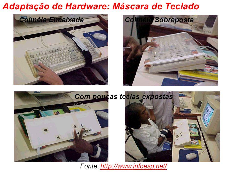 Colméia EncaixadaColméia Sobreposta Com poucas teclas expostas Adaptação de Hardware: Máscara de Teclado Fonte: http://www.infoesp.net/http://www.info
