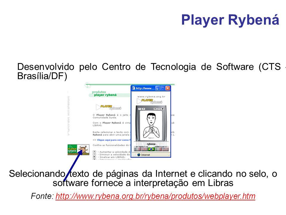 Desenvolvido pelo Centro de Tecnologia de Software (CTS – Brasília/DF) Selecionando texto de páginas da Internet e clicando no selo, o software fornec