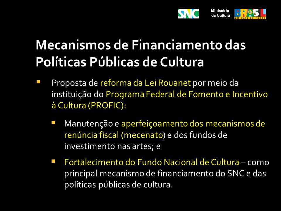 Mecanismos de Financiamento das Políticas Públicas de Cultura Proposta de reforma da Lei Rouanet por meio da instituição do Programa Federal de Foment