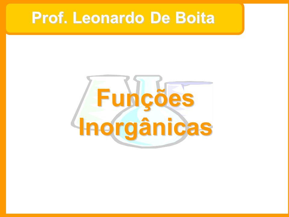 Prof. Leonardo De Boita Funções Inorgânicas