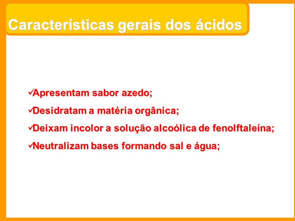 Ácidos importantes: 1)H 2 SO 4 – Ác.