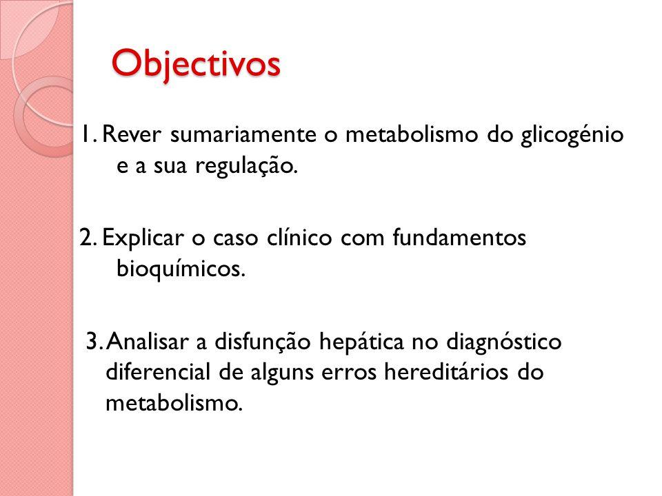 Objectivos 1. Rever sumariamente o metabolismo do glicogénio e a sua regulação.