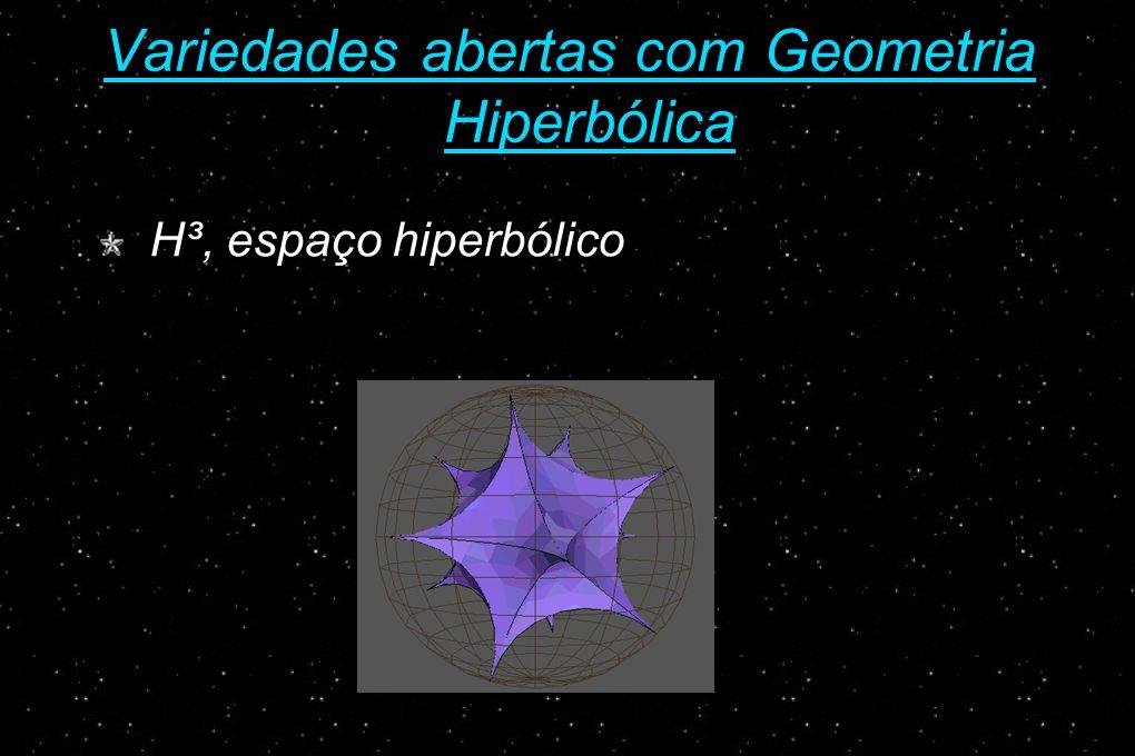 Variedades abertas com Geometria Hiperbólica H³, espaço hiperbólico