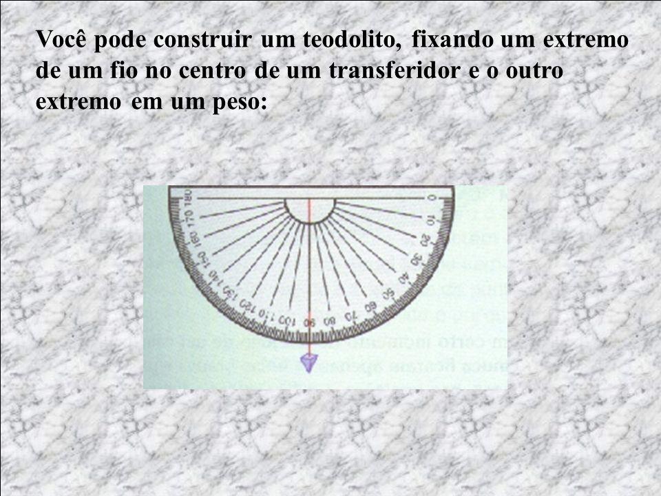Construindo um teodolito O teodolito é um instrumento muito usado na engenharia para medir ângulos.