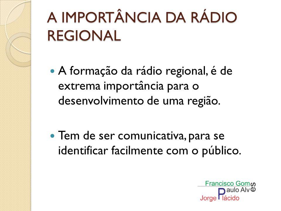 A IMPORTÂNCIA DA RÁDIO REGIONAL Serve como porta voz da população.