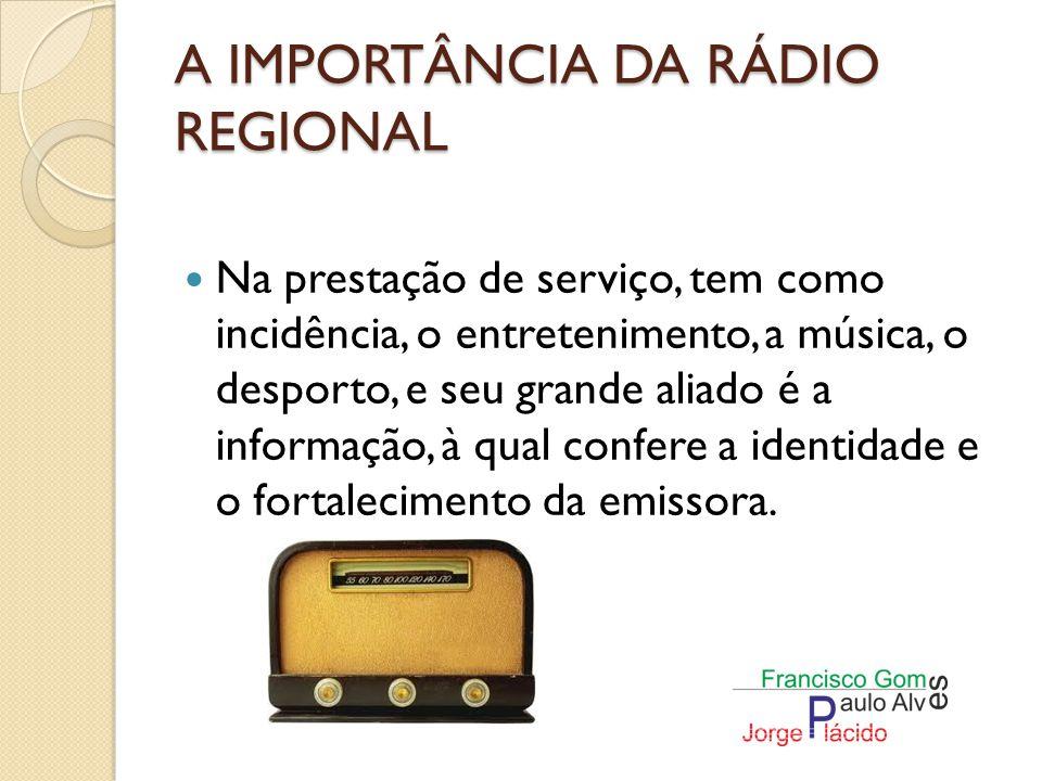 A IMPORTÂNCIA DA RÁDIO REGIONAL Está sempre com modificações radiofónicas a nível da tecnologia.