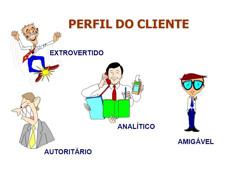PERFIL DO CLIENTE EXTROVERTIDO AMIGÁVEL AUTORITÁRIO ANALÍTICO