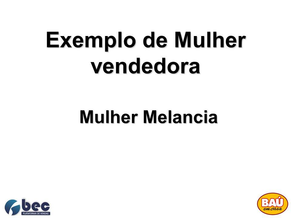 Exemplo de Mulher vendedora Mulher Melancia
