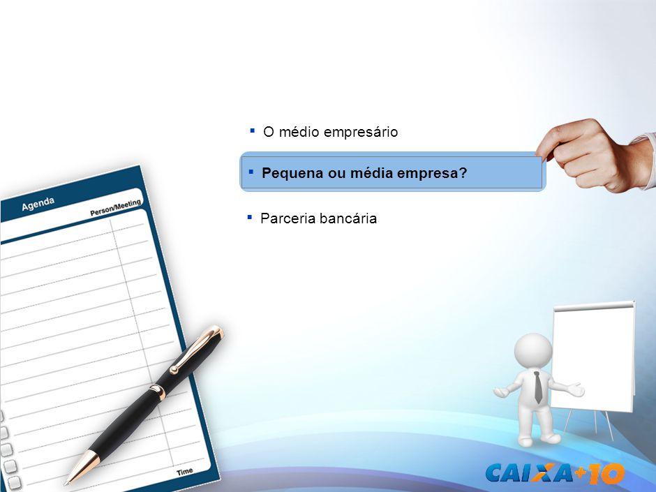 Pequena ou média empresa O médio empresário Parceria bancária