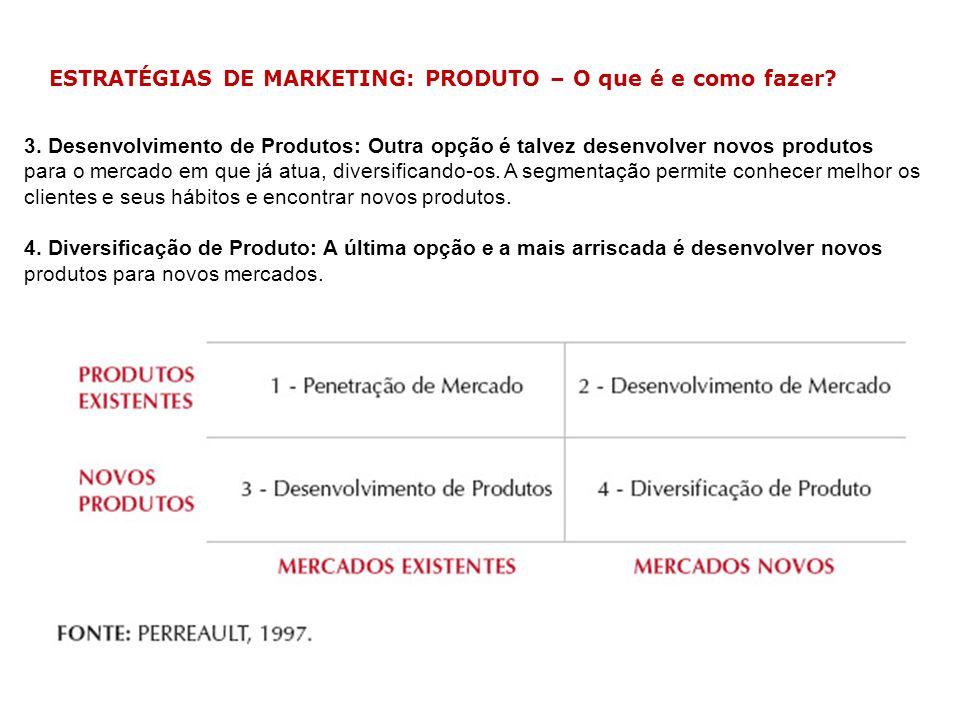 ESTRATÉGIAS DE MARKETING: PRODUTO – O que é e como fazer? 3. Desenvolvimento de Produtos: Outra opção é talvez desenvolver novos produtos para o merca