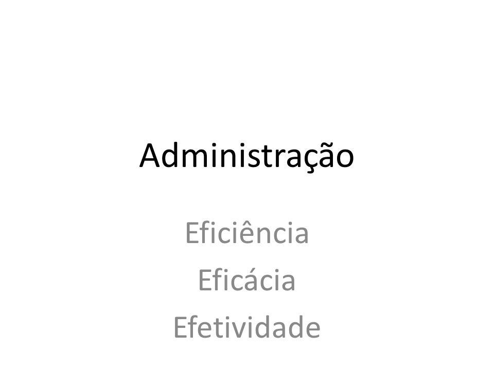 Eficiência Eficácia Efetividade Administração