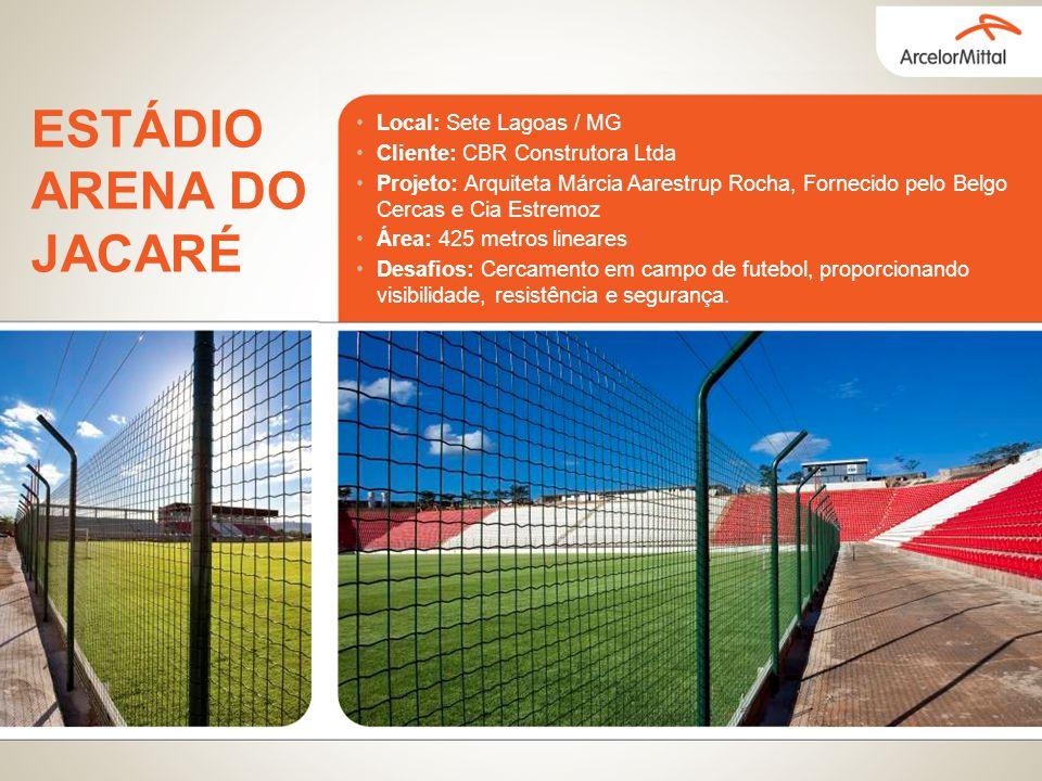 Local: Sete Lagoas / MG Cliente: CBR Construtora Ltda Projeto: Arquiteta Márcia Aarestrup Rocha, Fornecido pelo Belgo Cercas e Cia Estremoz Área: 425
