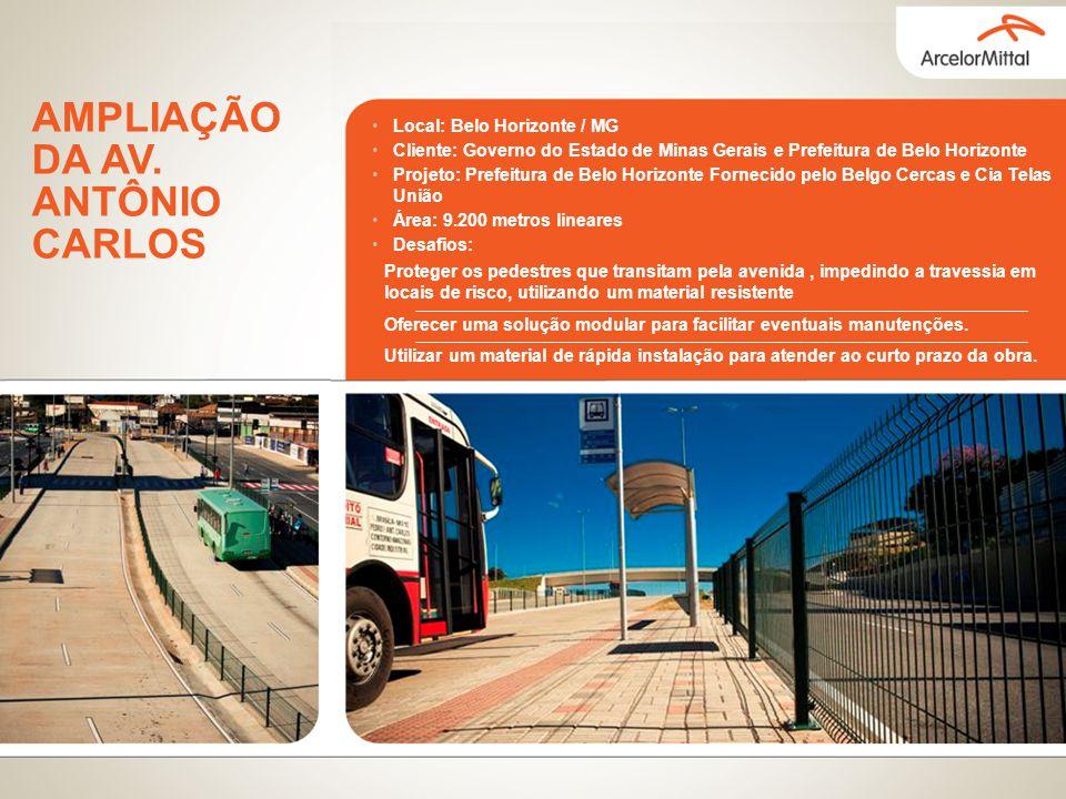 Local: Belo Horizonte / MG Cliente: Governo do Estado de Minas Gerais e Prefeitura de Belo Horizonte Projeto: Prefeitura de Belo Horizonte Fornecido p