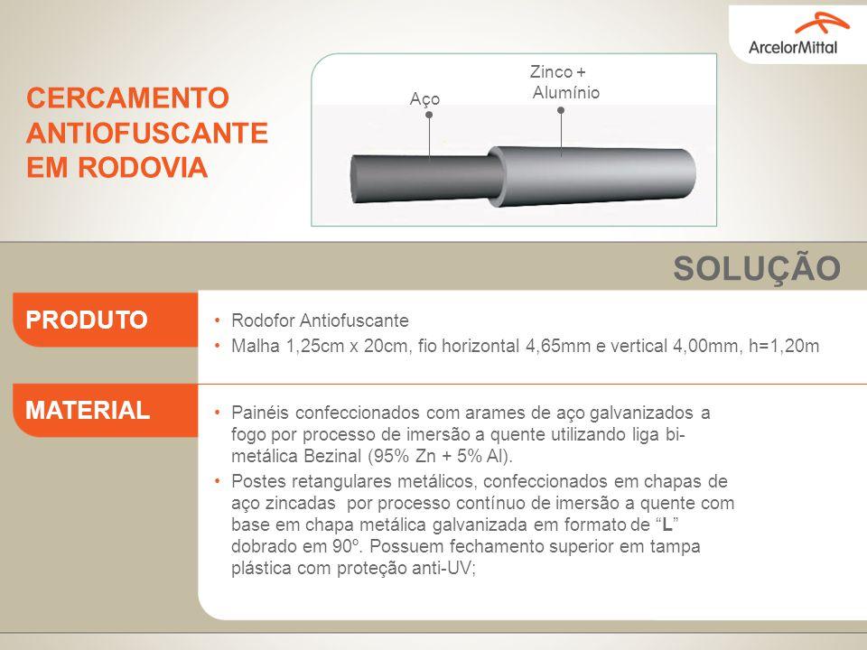 Rodofor Antiofuscante Malha 1,25cm x 20cm, fio horizontal 4,65mm e vertical 4,00mm, h=1,20m Painéis confeccionados com arames de aço galvanizados a fo