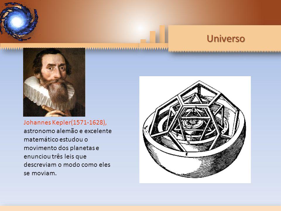 Universo Johannes Kepler(1571-1628), astronomo alemão e excelente matemático estudou o movimento dos planetas e enunciou três leis que descreviam o modo como eles se moviam.