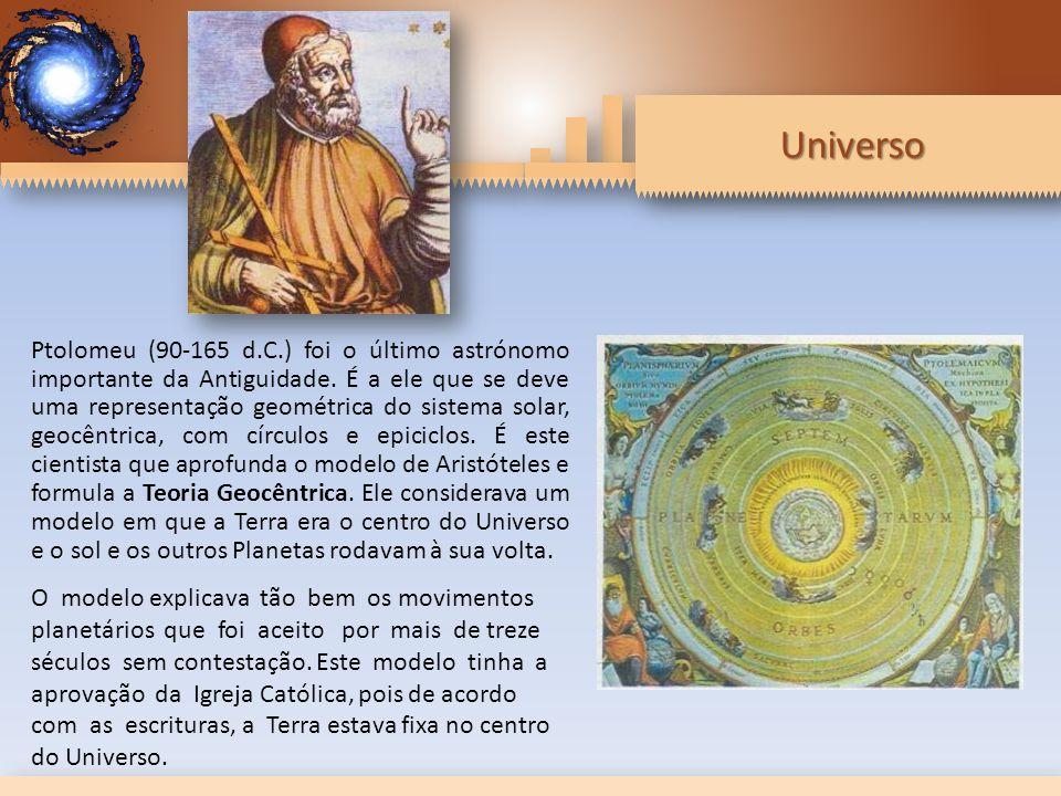 Universo Ptolomeu (90-165 d.C.) foi o último astrónomo importante da Antiguidade.