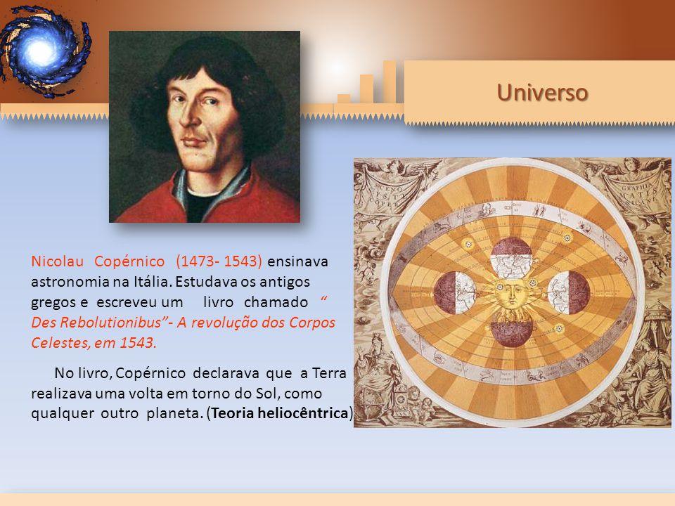 Universo Nicolau Copérnico (1473- 1543) ensinava astronomia na Itália.