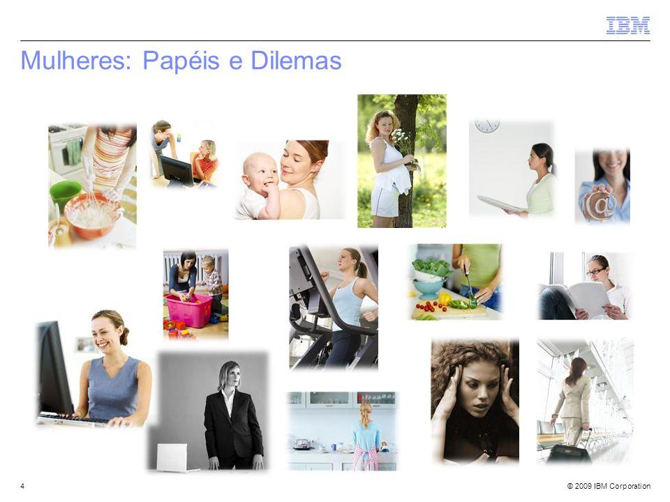 © 2009 IBM Corporation Mulheres: Papéis e Dilemas 4